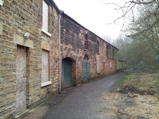 View of Forge Lane, Elsecar, March 2013