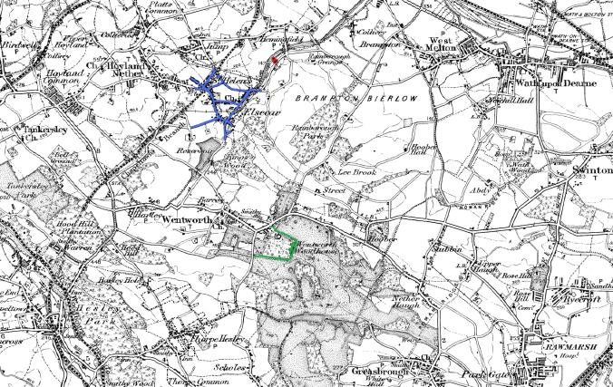 Based on the 1911 One inch Ordnance Survey map.