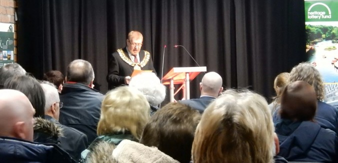 The Mayor of Barnsley addresses the attendees.