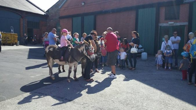 Donkey rides at Elsecar (Photo credit: Christine Cameron)
