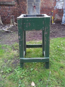 "Stool, in Wentworth Green, marked ""EFW"" from Hemingfield)"