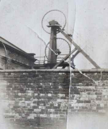 Image of the 'Bicycle Pit' twin winding wheels, in a pre-1939 image.