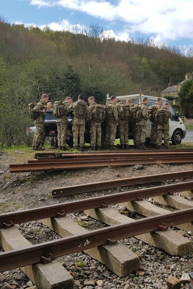 Junior soldiers from the AFC, Harrogate ready for a weekends trackwork