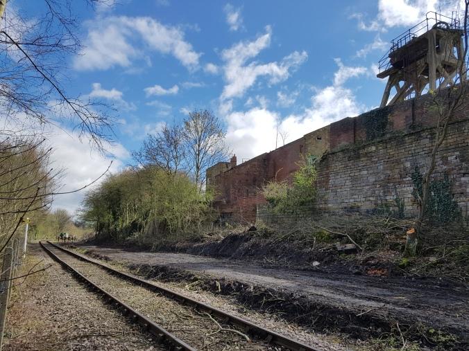 Clearance work revealing Hemingfield Colliery's original retaining wall.