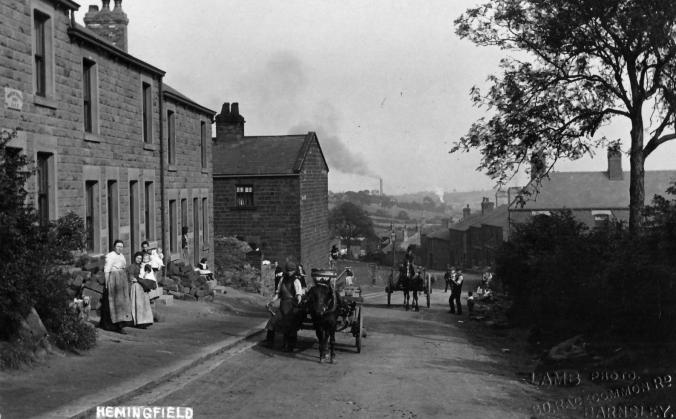 View down Cemetery Road at the turn of the Twentieth Century