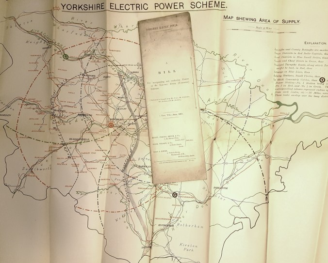 Yorkshire Electric Power Company - plan used to promote the Bill which led to its establishment in 1901.