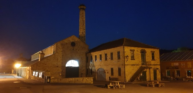 View of Elsecar Heritage Centre at night