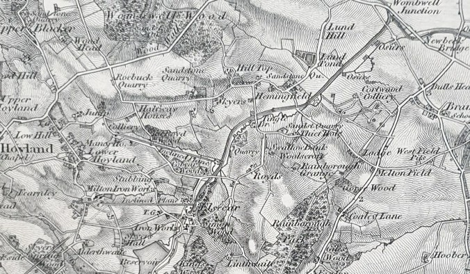 Old series 1 inch Ordnance Survey map, 1841