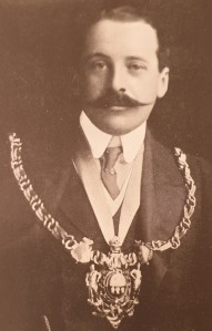 Photographic portrait of the 7th Earl Fitzwilliam, Lord Mayor of Sheffield in 1910 during the Trades Union Congress held at Sheffield that year.